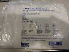 BUSSE DISPOSABLES #913 POST MORTEM BAG W/ EXTRA LARGE SHROUD KIT EMT OR NURSE MD