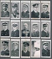 1915 ITC C23 Naval Portraits Tobacco Cards Complete Set of 50 (35 PSA Graded)