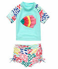 NWT Crazy 8 by Gymboree Ruffle Fish Rash Guard Set Swimsuit Girl toddlers 12-18M