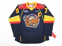 CONNOR McDAVID ERIE OTTERS OHL NAVY CCM PREMIER 7185 HOCKEY JERSEY