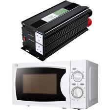 3000W modificado Inversor de onda sinusoidal + Combo De Microondas Compacto 700W Camper Van Car