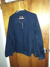 Vintage 60's OAKBROOK SPORTSWEAR Coat Lined Jacket Size 46 navy blue zip up fron