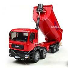 Red 1:50 Heavy Dump Truck Construction Equipment Diecast Model Car By KDW 1/50