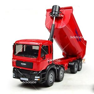 Red 1:50 Heavy Dump Truck Construction Equipment Diecast Model Car By KDW 1/50