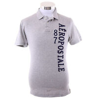 Aeropostale Men Short Sleeve Solid Graphic Jersey Polo Shirt Style 5049 $0 Ship