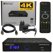 Opticum Ax 1500 UHD 4K Satellite Receiver Full HDTV DVB-S2 (Android 6.0) Lan