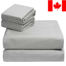 LivingBasics® 100% COTTON Deep Pocket Bed Sheet Set of 4pc with Pillowcase, 300T
