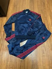 Vintage Adidas ATP Keyrolan Tracksuit Jacket Pants Set Blue 3 Stripes Trefoil M