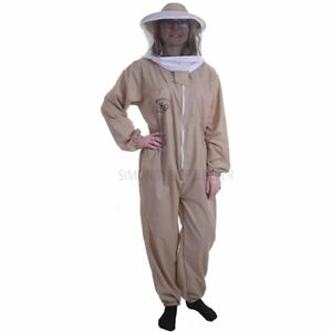Basic khaki suit Beekeeper with round veil-All sizes