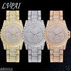 LVPAI Luxury Women's Crystal Dress Quartz Gold Stainless Steel Dress Wrist Watch