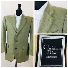 Christian Dior Mens Jacket Blazer Chest 40 Short Wool Single Breasted  Y43A