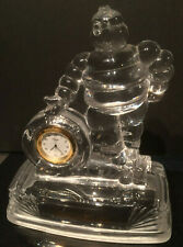 Rare Crystal Michelin Man Bibendum Trophy Clock
