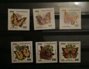 Syrien / Syria  1989 1991- Schmetterlinge  / Butterflies - 2 Sätze **   mnh
