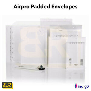 AIRPRO PADDED ENVELOPES BUBBLE MAIL BAGS LITE JIFFY ALL SIZES WHITE ENVELOPES