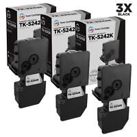 LD Compatible Kyocera TK-5242K Black Toner 3-Pack for ECOSYS M5526cdw, P5026cdw