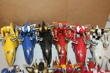 Power Rangers Dino Thunder 6 Raptor Cycles Triassic Red Blue Black White weapons