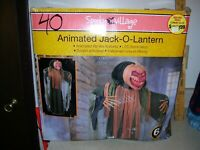 SpookyVillage 6ft tall Animated Lifesize Pumpkin Jack-O-Lantern Halloween 04051