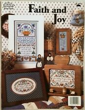 Jeremiah Junction Cross Stitch Pattern Book FAITH AND JOY Lovely Heirloom Gift