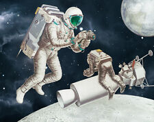 Apollo Moon Mission Landing Limited Edition Giclee Art Print NASA Space 11 x 14