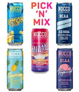 NOCCO BCAA Drink with Caffeine Sugar Free 330 ml PICK & MIX As You Like!