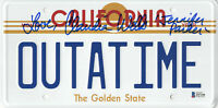 CLAUDIA WELLS SIGNED AUTO BACK TO THE FUTURE LICENSE PLATE BECKETT BAS COA 7