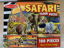 Safari Floor Puzzle Melissa & Doug 100 Piece Jigsaw Puzzle Complete 4+ Feet Long