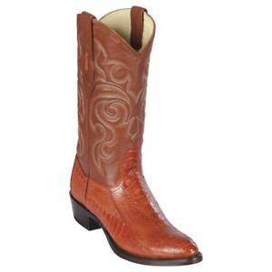 Men's Los Altos Genuine Ostrich Leg Western Boots Round Toe Wide Width