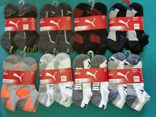 12 pairs Ankle Low Cut Puma Mens Boys Sports Running Cotton Rich Sock Size 8-12