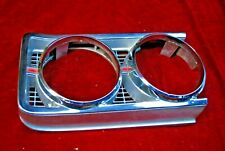 69 FORD TORINO & RANCHERO GT LH HEADLAMP BEZEL VERY GOOD CHROME WAY BETTER THAN