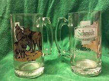 2 Schmidt Beer - Vintage Wolves Wildlife Collector Series II Mugs