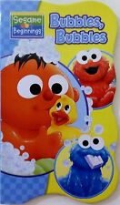 Sesame Street Beginnings BOARD BOOKS Baby Big Bird Cookie ELMO ~Bubbles, Bubbles