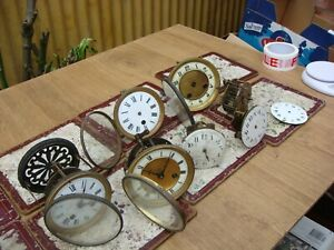 Antique  Clock French Movement Movement For Mantle  Clock For Spare Or Repair )