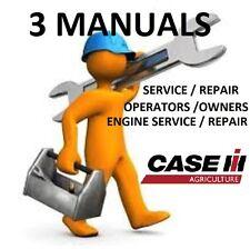 CASE IH MX120 **3 MANUALS** SERVICE REPAIR, OWNERS ,ENGINE REPAIR , PDF