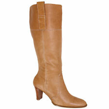 100% Leather Slip on Knee High Boots for Women