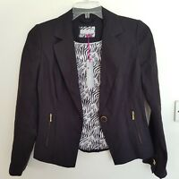 BNWT Per Una Marks and Spencer Black Pure Linen Jacket Button Size UK 8 RRP £49