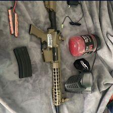 lancer tacticle m4 airsoft rifle barley used great condition