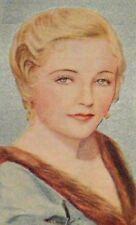 EVELYN LAYE  Gaumont-British Film Star Vintage 1934 UK Cigarette Tobacco Card