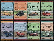St. Lucia 1984-1985 - Mi-Nr. 652-659 & 740-747 ** - MNH - Autos / Cars
