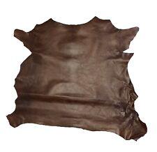Springfield Leather Co. Rust Grenada Goat Hide Leather 3-5 sqft piece