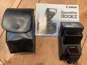 Canon Speedlite 300EZ Power Zoom Dedicated TTL Flash Unit for most EOS Film SLRs