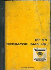 Massey Ferguson MF44 Wheel Loader Operators Manual - MF 44