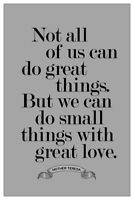 36in Home Wall Decor Mother Teresa Anyway Quote Silk Poster 24in