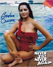 Barbara Carrera Signiert 8x10 Foto - James Bond Babe - Never Say Again H128