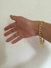 "Lifetime Never Fade 8mm 8"" 18K Yellow Gold Plated Bracelet Christmas Gift w Box"