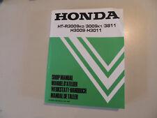 Officina MANUALE NEGOZIO MANUAL HONDA Tosaerba Trattore Ht-R 3009 3811 H 3009 3011