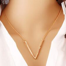Fashion Irregular V shape Gold Tone Hand multi-Layer Chain Necklace Beads