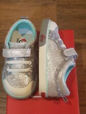 "New See Kai Run ""Kristin"" silver leather sneakers,toddler 8,NWT"