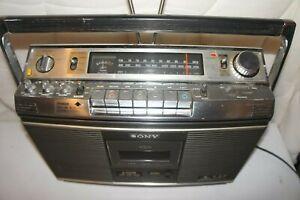 1976 SONY CF-3800 Cassette Radio Vintage BOOMBOX CF-580 Stereo 4 Speaker