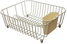 Rubbermaid 6008-AR-BISQU Microban Coated Wire Dish Drainer, Small, Bisque