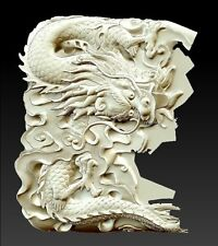 3D model relief for cnc in STL file format Small dragon…